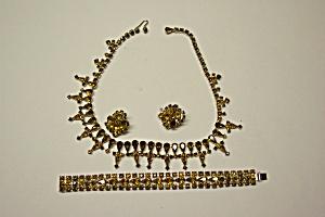 Kramer Amber Rhinestone Necklace Set (Image1)