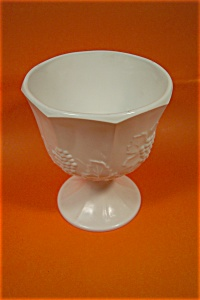 "Paneled Grape 6-1/2"" Footed Vase"