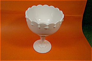 Milk Glass Pedestal Compote