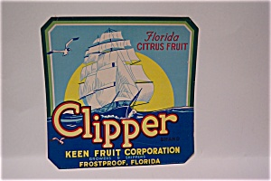Clipper Orange Crate Label (Image1)