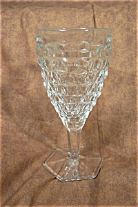 Pineapple Pattern Pressed  Crystal Glass Goblet (Image1)