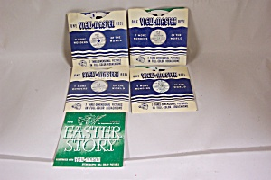 Set Of 4 View-master 3-d Reels On Religious Themes.