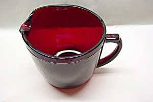 Fire King /Anchor Hocking Royal Ruby Creamer (Image1)