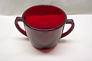 FireKing/Anchor Hocking  Royal Ruby Sugar Bowl (Image1)