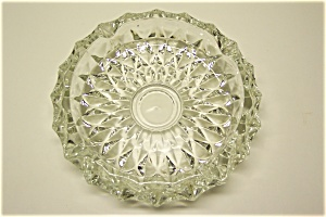 Elegant Crystal Pressed Glass Ash Tray (Image1)