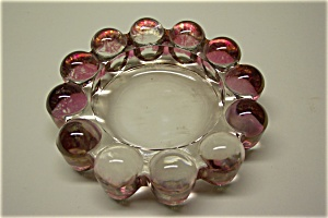 Cased Light Pink Art Glass Ash Tray (Image1)