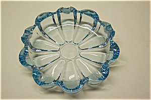 Light Blue Cased Glass Ash Tray (Image1)