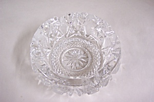 Beautiful Cut Lead Crystal Glass Ash tray (Image1)