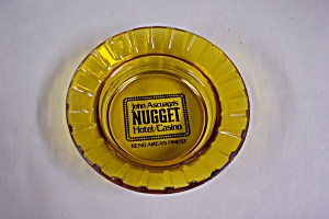 Nugget Casino Amber Glass Ash Tray (Image1)