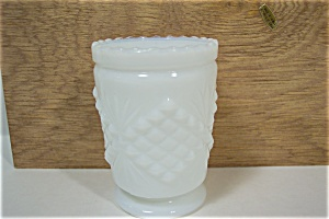 Diamond & Sunburst Milk Glass Toothpick Holder (Image1)