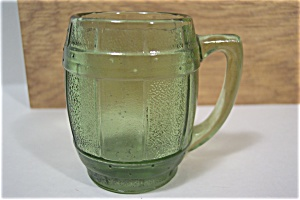 Green Glass Mug Shaped Toothpick Holder