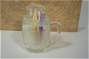 Crystal Glass Mug Shaped Toothpick Holder (Image1)