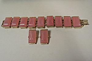 Pink Stone Bracelet And Earrings Set (Image1)