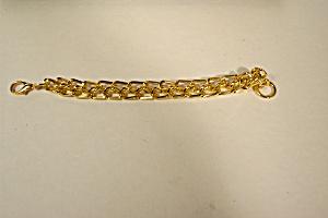 Elegant  Vintage Gold Plated Link Bracelet (Image1)