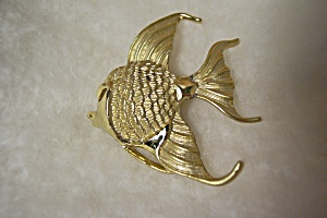 Gold Plated Angel Fish Brooch/Pin (Image1)