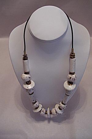 Vintage Ceramic Bead Necklace (Image1)