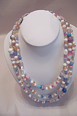 Vintage Multi-Colored Glass Bead Necklace (Image1)