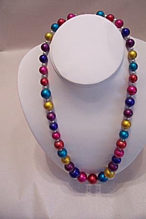 Vintage Multi-Colored Bead Necklace (Image1)