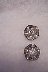 Vintage Rhinestone Button (Image1)