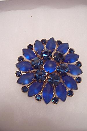 Vintage Dark Blue Rhinestone Pin/Brooch (Image1)