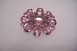 Vintage Pink Rhinestone Brooch/Pin (Image1)