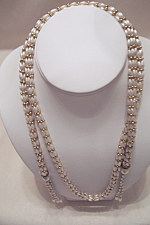 Vintage Faux Pearl Rope Belt/necklace