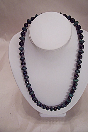 Aurora Borealis Faceted Glass Bead Necklace Set (Image1)