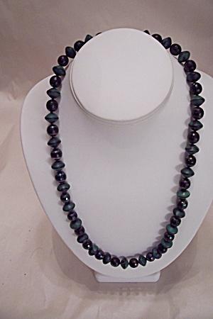 Aurora Borealis Faceted Glass Bead Necklace Set (Image1)