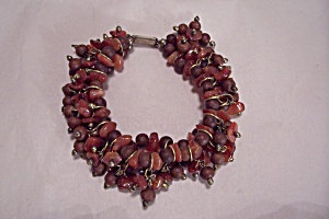 Vintage Natural Stone & Wood Beads Bracelet (Image1)