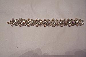Vintage Coro Aurora Borealis Rhinestone Bracelet (Image1)