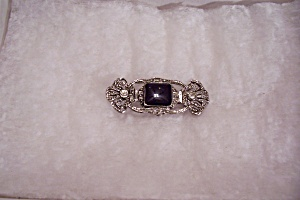 Silvertone And Rhinestone Brooch (Image1)
