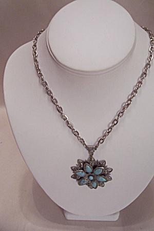 Silvertone Turquoise Necklace (Image1)