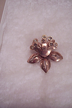 Coppertone And Rhinestone Brooch (Image1)