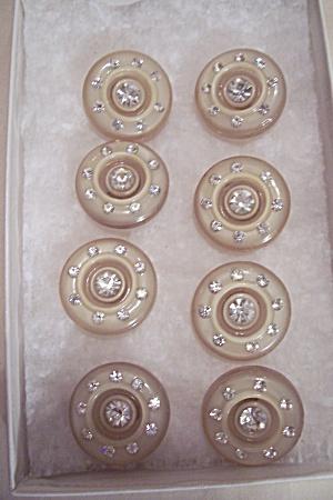 Set Of 8 Plastic & Rhinestone Buttons (Image1)
