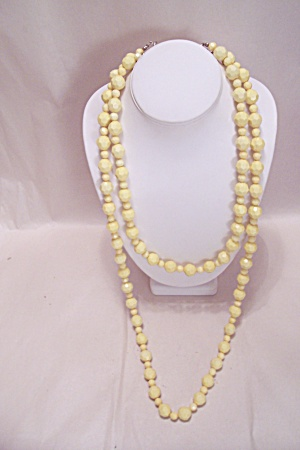 Yellow Faceted Bead Two-Strand Necklace (Image1)