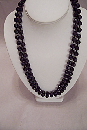 Black Faceted Bead Necklace (Image1)