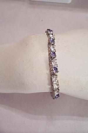Napier Aurora Borealis & Amethyst Rhinestone Bracelet (Image1)