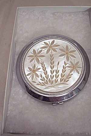 Japanese Chrome & Mother Of Pearl Compact (Image1)