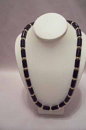 Napier Elongated Black Bead Necklace (Image1)