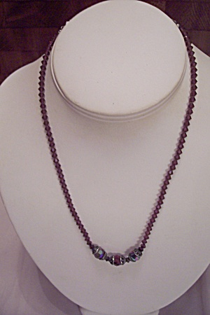 Amethyst Faceted Beads Necklace