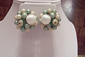 Pair Of Clip-on Assorted Bead Earrings