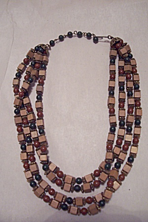 Four Strand Bead Necklace