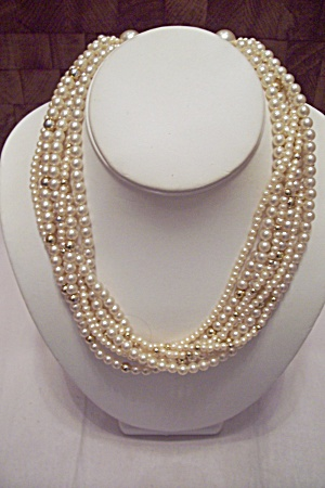 Eight Strand Pearl Necklace