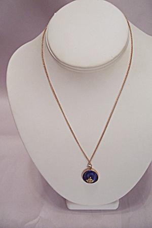 Avon Chain Necklace With Rhinestone Drop (Image1)