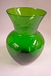 Handblown Emerald Green Bulbous Art Glass Vase