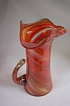 Click to view larger image of  Handblown Cased Art Glass Pitcher (Image1)