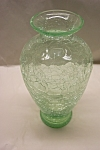 Click here to enlarge image and see more about item AGCH0003: Light Green Crackle Glass Vase