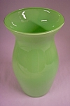 Handblown Cased Light Green  Art  Glass Vase