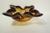 Click to view larger image of MURANO Hand-Blown Amber Folded Art Glass Bowl (Image2)