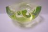 Click to view larger image of MURANO Cased Lime Green Folded Bowl (Image2)